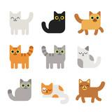 Fototapety Cartoon cats set