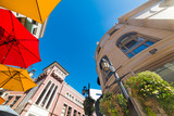 colorful parasols in Rodeo drive
