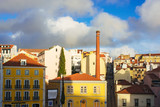 beautiful view on Lisbon old city