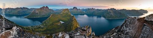 Poster View from Beautiful Segla Mountain, Senja, Norway
