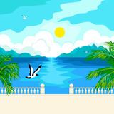 South idyllic seascape