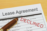 Applying for a Lease Agreement Declined