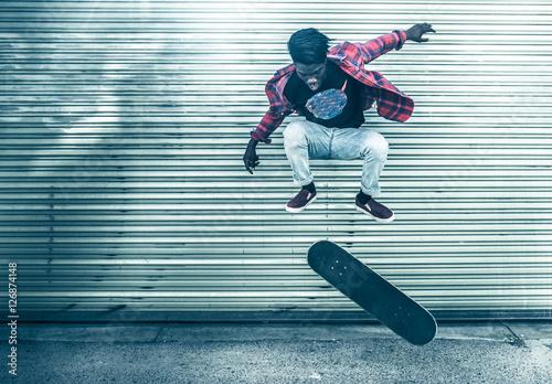 Skateboarder in action Poster