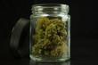 Cannabis Jar Open