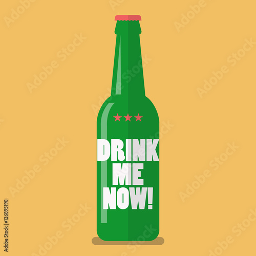 Poster Beer bottle drink me now