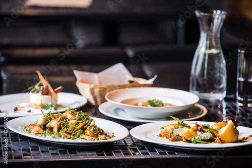dinner in the restaurant - 126898761