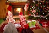 Christmas socks - concept