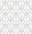 seamless pattern with abstract minimalistic ornament