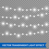 Christmas lights vector isolated realistic glowing