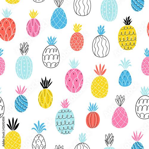 Fun pineapples pattern - 126924114