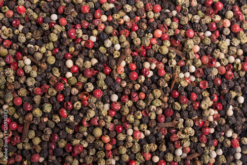 Poster close up of spices peppercorn