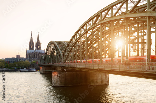 Zdjęcia Image of Cologne with Cologne Cathedral, Germany