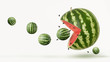 funny pacman watermelon - 126942906