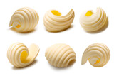 Set of butter curls or rolls, paths - 126955394