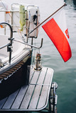 Details of luxury yacht docked at Sopot Pier, Baltic Sea