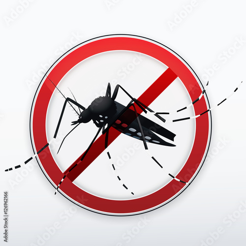 Stop mosquito sign - 126962166
