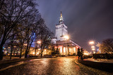 Night view of Warsaw Palace of Culture and Science, Poland - 126966363