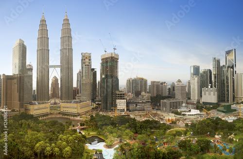 Kuala Lumpur, Malaysia downtown city skyline... Poster