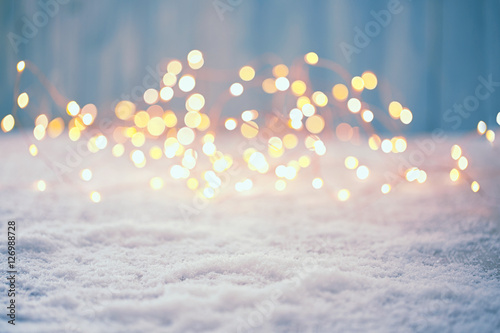 Leinwanddruck Bild Christmas Bokeh Background