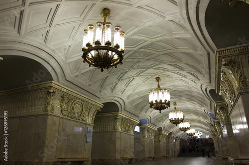 In de dag Photos in the Moscow metro