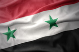 waving colorful flag of syria.