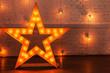 golden star with bulbs