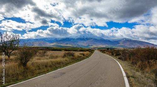 Road to Moncayo summit Natural Park, Zaragoza, Aragon, Spain