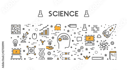 Vector line web concept for science