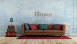 Colorful vintage living room