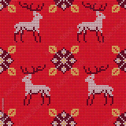 Cotton fabric Christmas Sweater Pattern 12