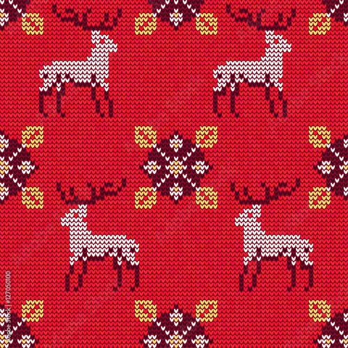 Materiał do szycia Christmas sweter wzór 12