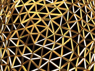 Abstract gold metal structure mesh background texture ,3d