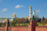 Beautiful view of the cathedrals of the Moscow Kremlin, Russia