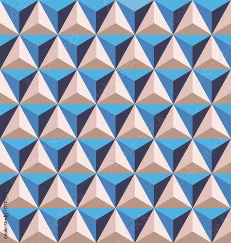 Seamless abstract geometric pattern - 127055762