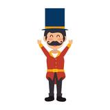Circus ceremony master icon vector illustration design