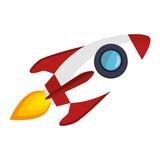 Rocket Launcher Start Up  Illustration Design Wall Sticker