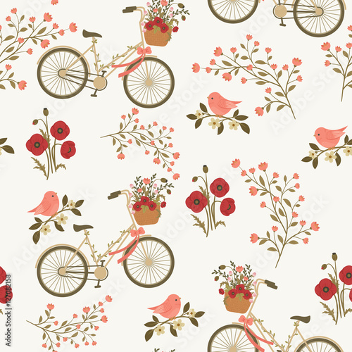 Spring floral seamless pattern - 127082158