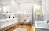 Fototapety Modern white bathroom 2