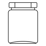 Jar icon. Outline illustration of jar vector icon for web