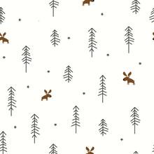 Las zimowy z łosia