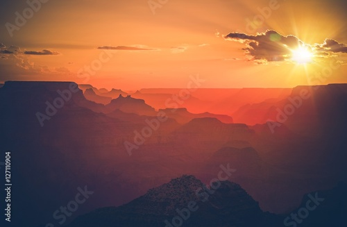 Foto op Canvas Arizona Arizona Grand Canyon Sunset