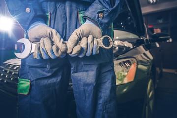 Car Mechanic Ready For Work