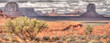 Geologic formations in Monument Valley along the Arizona/Utah border
