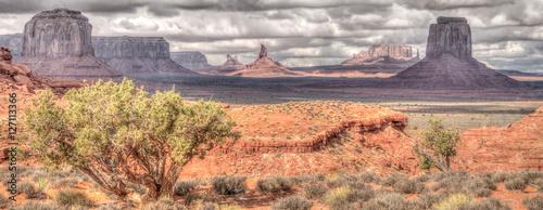 Canvas Arizona Geologic formations in Monument Valley along the Arizona/Utah border