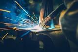Metal Welding Closeup - 127124103