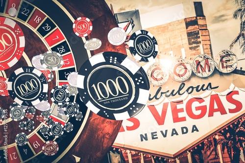Poster Vegas Casino Roulette Concept