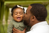 African American father and daughter - 127133376
