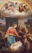 VIENNA - JULY 27:  Fresco of Nativity scene by Karl von Blaas from 19. cent. in nave of Altlerchenfelder church on July 27, 2013 Vienna.