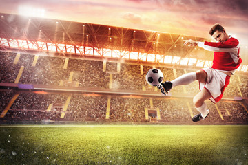Football game at the stadium