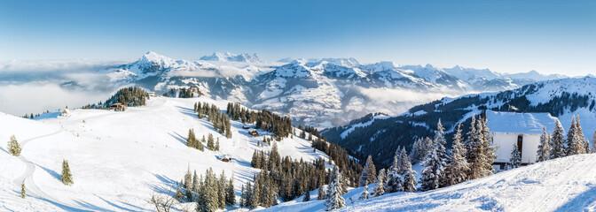 Fototapeta zimowy górski widok panorama